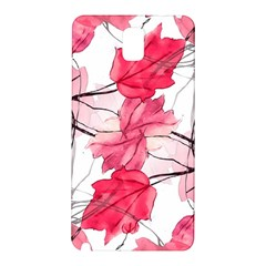 Floral Print Swirls Decorative Design Samsung Galaxy Note 3 N9005 Hardshell Back Case by dflcprints
