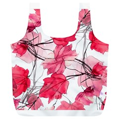 Floral Print Swirls Decorative Design Reusable Bag (xl)