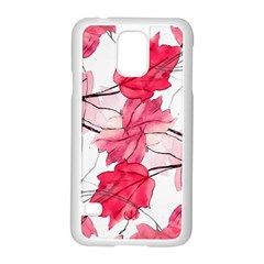 Floral Print Swirls Decorative Design Samsung Galaxy S5 Case (white) by dflcprints