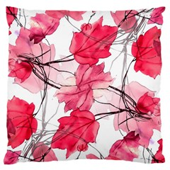 Floral Print Swirls Decorative Design Large Flano Cushion Case (two Sides) by dflcprints