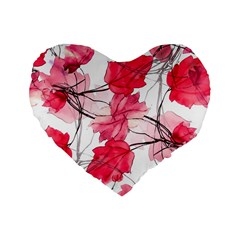 Floral Print Swirls Decorative Design 16  Premium Flano Heart Shape Cushion  by dflcprints