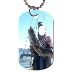 Gone Fishing !  By Pamela Sue Goforth   Dog Tag (two Sides)   Xjm9rd5cn8gh   Www Artscow Com Front