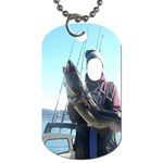 Gone Fishing !  - Dog Tag (Two Sides)