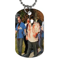 Zombies At Work ! Series #1  By Pamela Sue Goforth   Dog Tag (two Sides)   Klg72kqr9dip   Www Artscow Com Front