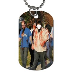 Zombies At Work ! Series #1  By Pamela Sue Goforth   Dog Tag (two Sides)   Ay3xxkxo9e5e   Www Artscow Com Front
