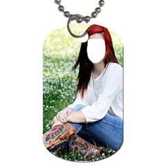 Cowgirl ! By Pamela Sue Goforth   Dog Tag (two Sides)   Iix6vbfzauop   Www Artscow Com Front