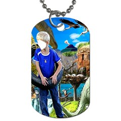 Dino Egg Experdition Seriies #4  By Pamela Sue Goforth   Dog Tag (two Sides)   Eahc7mtp7u0r   Www Artscow Com Front