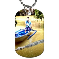 Anaconda ! By Pamela Sue Goforth   Dog Tag (two Sides)   Pt3pu082fz9u   Www Artscow Com Front