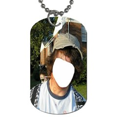 Pencil In Neck ! Zombie Series #2  By Pamela Sue Goforth   Dog Tag (two Sides)   X203enn27hre   Www Artscow Com Front