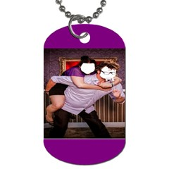 Piggy Back By Pamela Sue Goforth   Dog Tag (two Sides)   Gbqesh98h8p7   Www Artscow Com Front