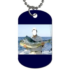 Largest Fisher Fisherman By Pamela Sue Goforth   Dog Tag (two Sides)   Mk7jljqjk22a   Www Artscow Com Front