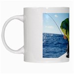 Green Tropical Fisher - White Mug