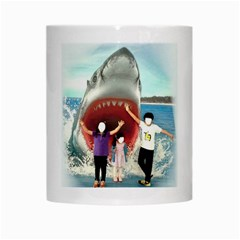 Shark ! By Pamela Sue Goforth   White Mug   Ich0rxn20cmo   Www Artscow Com Center