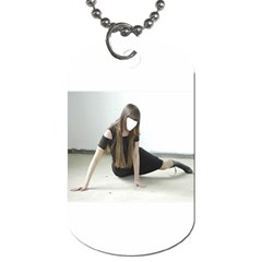 Girl On Thr Floor By Pamela Sue Goforth   Dog Tag (two Sides)   71ef9l0b1clw   Www Artscow Com Front