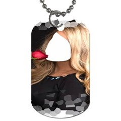 Roses Are Red ! By Pamela Sue Goforth   Dog Tag (two Sides)   5pnq9hokeo8s   Www Artscow Com Front