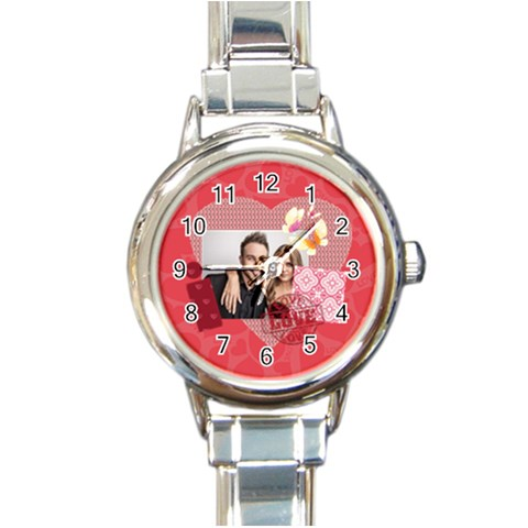 Love By Love   Round Italian Charm Watch   Lizr9y9ehtft   Www Artscow Com Front