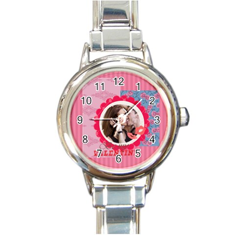 Love By Love   Round Italian Charm Watch   Tjek342p4v0s   Www Artscow Com Front