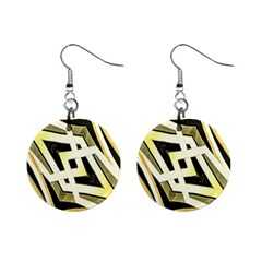 Art Print Tribal Style Pattern Mini Button Earrings by dflcprints