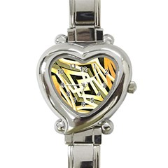 Art Print Tribal Style Pattern Heart Italian Charm Watch  by dflcprints