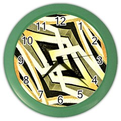 Art Print Tribal Style Pattern Wall Clock (color) by dflcprints