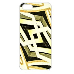 Art Print Tribal Style Pattern Apple Iphone 5 Seamless Case (white) by dflcprints