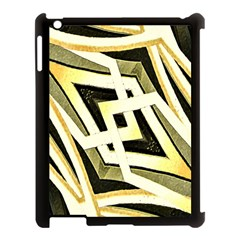 Art Print Tribal Style Pattern Apple Ipad 3/4 Case (black) by dflcprints