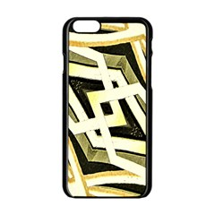 Art Print Tribal Style Pattern Apple Iphone 6 Black Enamel Case by dflcprints
