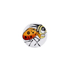 Funny Bug Running Hand Drawn Illustration 1  Mini Button Magnet by dflcprints