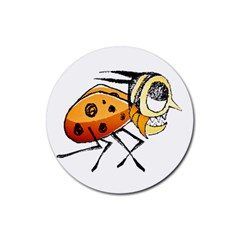 Funny Bug Running Hand Drawn Illustration Drink Coasters 4 Pack (round) by dflcprints