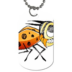 Funny Bug Running Hand Drawn Illustration Dog Tag (two Sided)  by dflcprints
