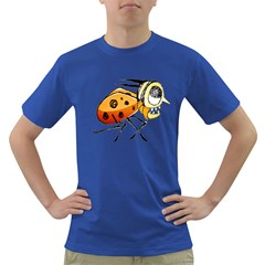 Funny Bug Running Hand Drawn Illustration Men s T Shirt (colored) by dflcprints