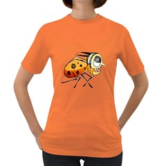 Funny Bug Running Hand Drawn Illustration Women s T Shirt (colored) by dflcprints