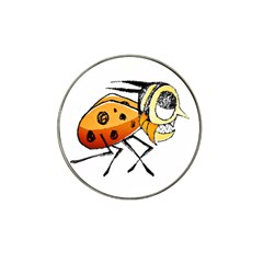 Funny Bug Running Hand Drawn Illustration Golf Ball Marker 10 Pack (for Hat Clip) by dflcprints