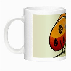 Funny Bug Running Hand Drawn Illustration Glow In The Dark Mug by dflcprints