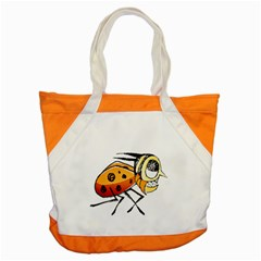 Funny Bug Running Hand Drawn Illustration Accent Tote Bag by dflcprints