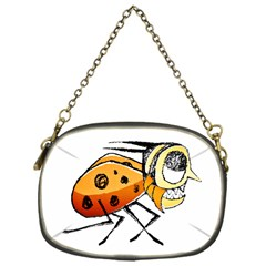 Funny Bug Running Hand Drawn Illustration Chain Purse (one Side) by dflcprints
