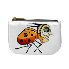 Funny Bug Running Hand Drawn Illustration Coin Change Purse by dflcprints