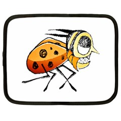 Funny Bug Running Hand Drawn Illustration Netbook Sleeve (xxl) by dflcprints