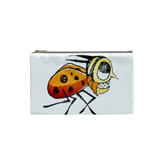 Funny Bug Running Hand Drawn Illustration Cosmetic Bag (small) by dflcprints