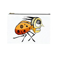 Funny Bug Running Hand Drawn Illustration Cosmetic Bag (large) by dflcprints