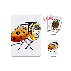 Funny Bug Running Hand Drawn Illustration Playing Cards (mini) by dflcprints