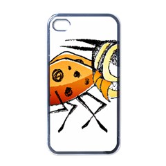 Funny Bug Running Hand Drawn Illustration Apple Iphone 4 Case (black) by dflcprints