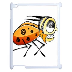 Funny Bug Running Hand Drawn Illustration Apple Ipad 2 Case (white) by dflcprints