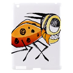 Funny Bug Running Hand Drawn Illustration Apple Ipad 3/4 Hardshell Case (compatible With Smart Cover)