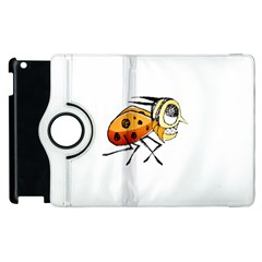 Funny Bug Running Hand Drawn Illustration Apple Ipad 2 Flip 360 Case by dflcprints