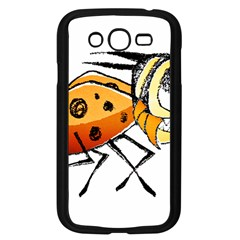 Funny Bug Running Hand Drawn Illustration Samsung Galaxy Grand Duos I9082 Case (black)