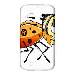 Funny Bug Running Hand Drawn Illustration Samsung Galaxy S4 Classic Hardshell Case (pc+silicone)