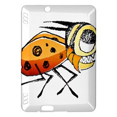 Funny Bug Running Hand Drawn Illustration Kindle Fire Hdx Hardshell Case by dflcprints