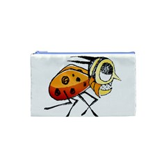 Funny Bug Running Hand Drawn Illustration Cosmetic Bag (xs) by dflcprints
