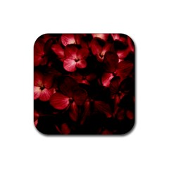 Red Flowers Bouquet In Black Background Photography Drink Coaster (square) by dflcprints